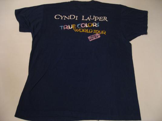 Vintage Cyndi Lauper T-Shirt True Colors M/L