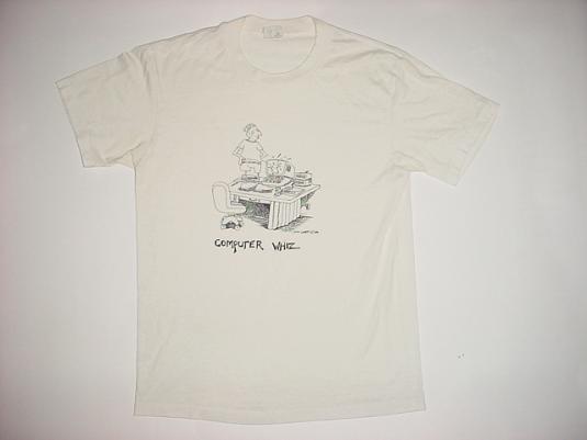 Vintage Computer Whiz John Lamb Comic T-Shirt M/S