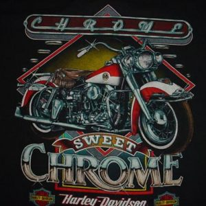 Vintage Harley Davidson T-Shirt Chrome Hog Heaven Miami XL