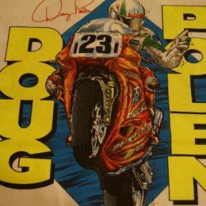 Vintage Doug Polen T-Shirt Signed DUCATI AMA M/L