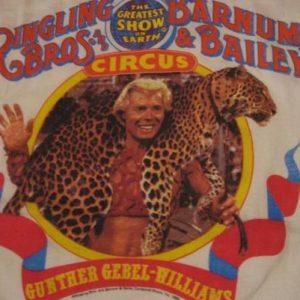 Vintage Gunther Gebel-Williams Ringling Barnum Circus TShirt