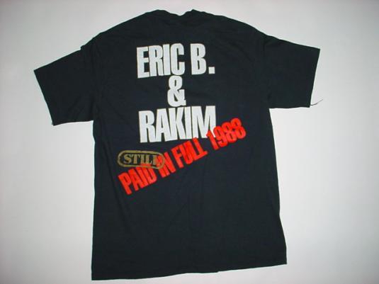 Vintage Eric B. & Rakim Paid in Full T-Shirt M/L