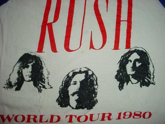 Vintage Rush Jersey World Tour 1980 M/L