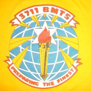 Vintage 3711 BMTS Squadron Air Force USAF T-Shirt S