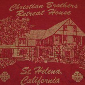 Vintage Christian Brothers Retreat House St Helena T-Shirt M