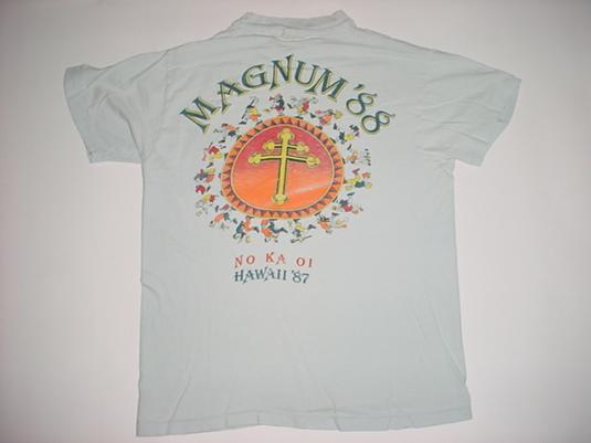Vintage Magnum P.I. T-Shirt Crew PI Selleck 1987 S