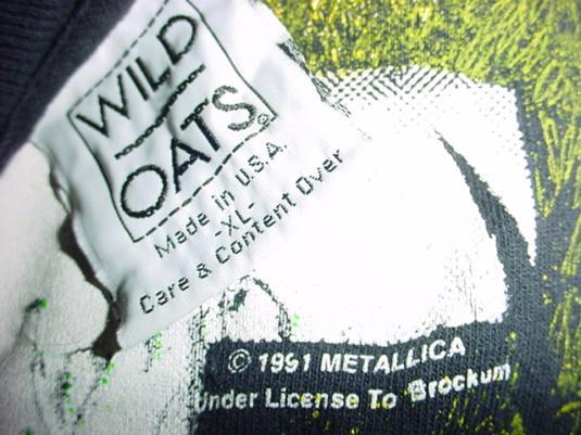 Vintage Metallica Album Justice Kill Lightning T-Shirt XL/L