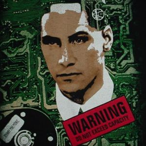 Vintage Johnny Mnemonic T-Shirt Keanu Reeves L