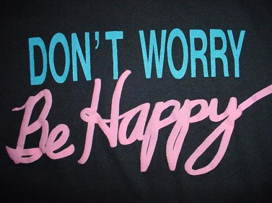 Vintage Don't Worry Be Happy T-Shirt Bobby McFerrin M/L