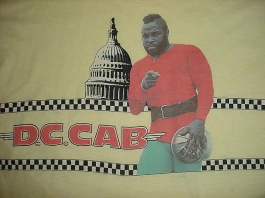 Vintage D.C. Cab Mr. T T-Shirt DC M/S