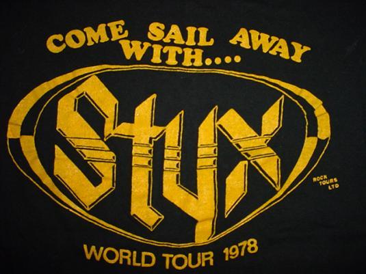 Vintage Styx T-Shirt Come Sail Away World Tour 1978 S
