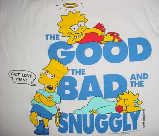 Vintage The Simpsons T-Shirt Matt Groening Bart 1990 M/S