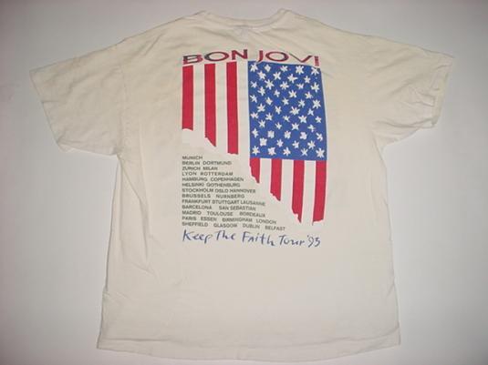 Vintage Bon Jovi T-Shirt Keep The Faith Tour L