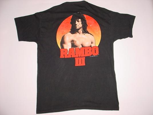 Vintage Rambo III T-Shirt First Blood Part Sly Stallone L
