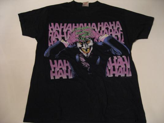Vintage The Joker T-Shirt HAHAHA Batman DC Comics M