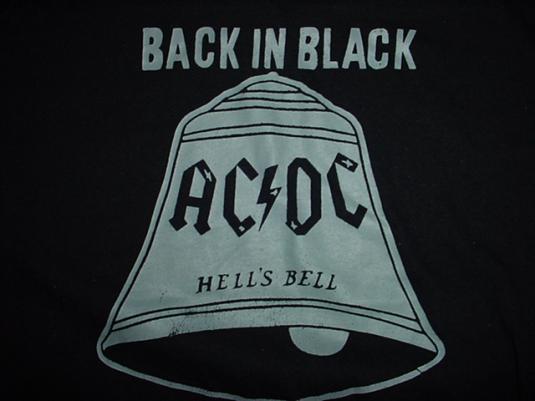 Vintage AC/DC Back in Black Hell's Bells T-Shirt 1980 Hells