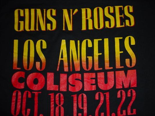 Vintage Guns n Roses T-Shirt Stoned in LA L.A. L