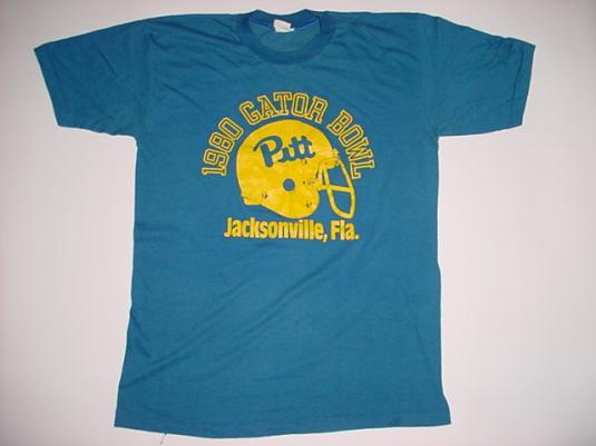 Vintage Gator Bowl Pittsburgh Jacksonville T-Shirt 1980 M/L