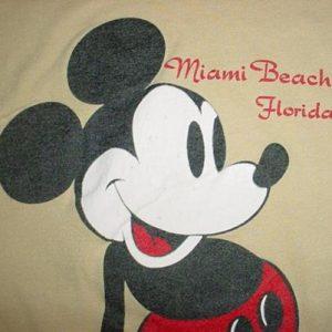 Vintage Mickey Mouse Miami Beach Florida T-Shirt L/M