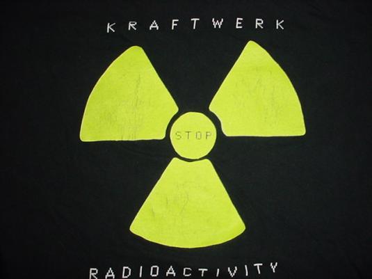 Vintage Kraftwerk T-Shirt Stop Radioactivity L/M
