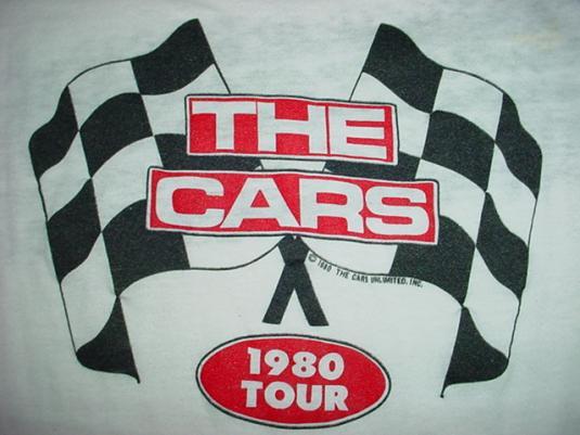 Vintage The Cars T-Shirt 1980 Tour Jersey M