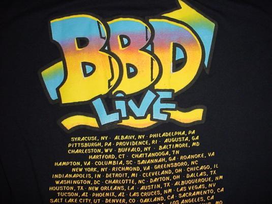 Vintage Bell Biv Devoe T-Shirt BBD Live tour 1990 L/M