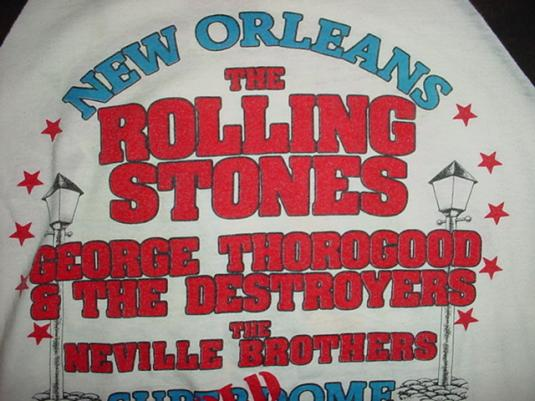 Vintage Rolling Stones The Neville Brothers Jersey T-Shirt M