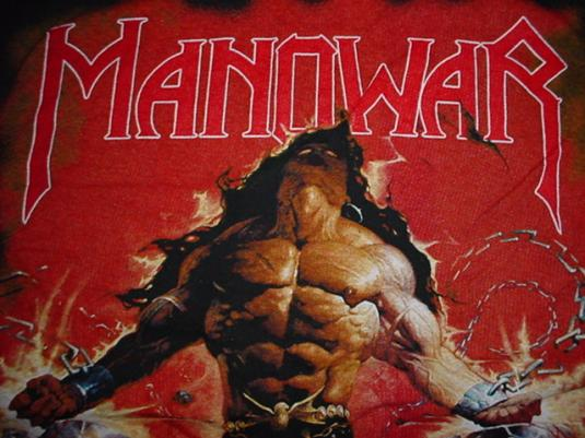 Vintage Manowar Louder Than Hell T-Shirt 1996 L
