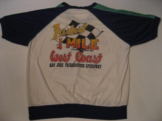 Vintage Mike Parker Fresno Flash San Jose Speedway T-Shirt M