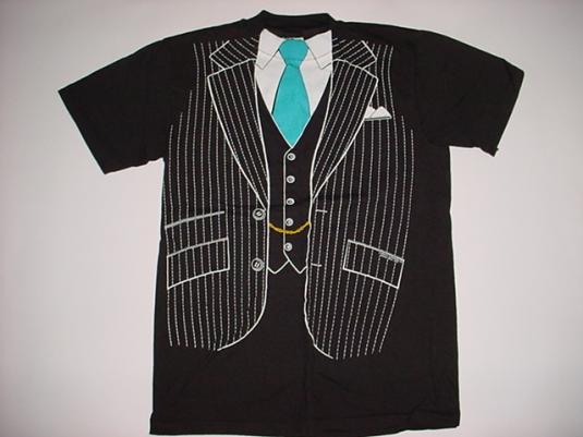 Vintage Tuxedo T-Shirt Novelty Suit and Tie S/M