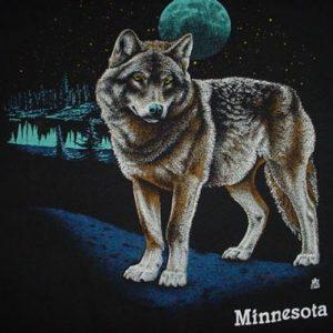 Vintage Minnesota Wolf Moon T-Shirt L/M