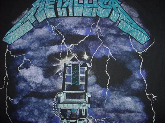 Vintage Metallica T-Shirt 1990s Ride The Lightning M