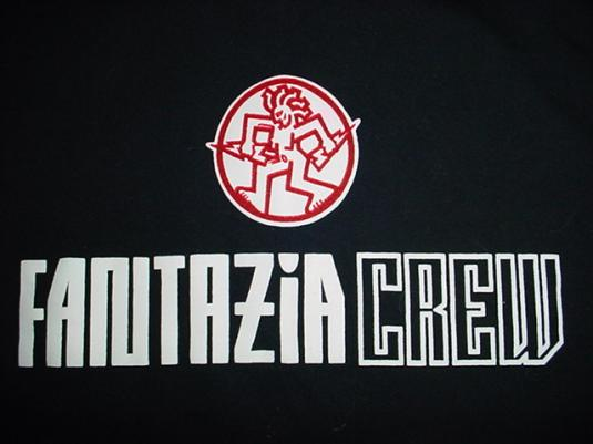 Vintage Fantazia T-Shirt Rave Crew 1993 L