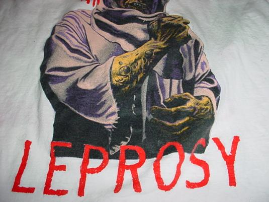 Vintage Death Leprosy T-Shirt Chuck Schuldiner M/S