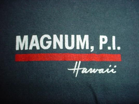 Vintage Magnum P.I. Hawaii T-Shirt PI Tom Selleck M/S