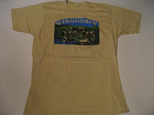 Vintage Wisconsin Cows T-Shirt Dairy M/S
