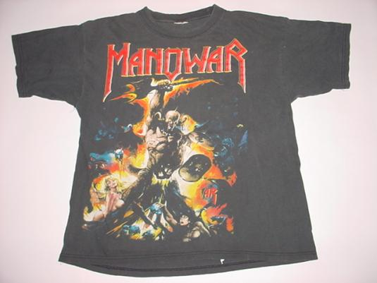 Vintage Manowar T-Shirt Hell on Stage XL/L