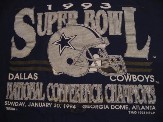 Vintage Dallas Cowboys 1993 Superbowl T-Shirt XL