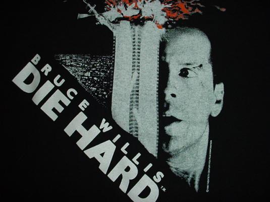 Vintage Die Hard T-Shirt Bruce Willis 1988 M