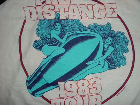 Vintage Bob Seger The Distance Silver Bullet TShirt Jersey M