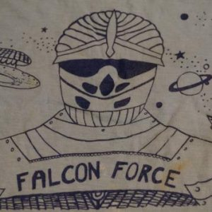 Vintage Falcon Force T-Shirt Sci-Fi UFO M/L