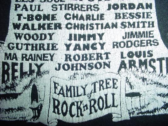 Vintage Family Tree of Rock N Roll T-Shirt XL/L