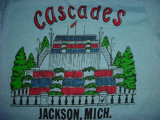 Vintage Cascades Jackson Michigan T-Shirt S