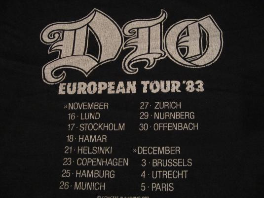 Vintage Ronnie James Dio Holy Diver Euro Tour '83 T-Shirt M