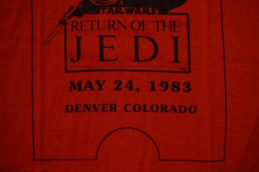 Vintage Return of the Jedi Star Wars World Premiere T-Shirt