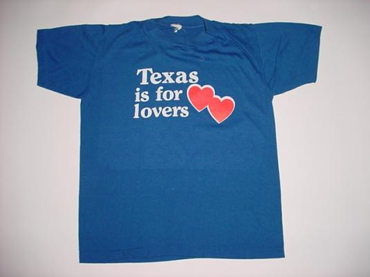 Vintage Texas is For Lovers T-Shirt 1980s S