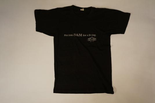 Vintage I'M INTO S&M FOR A LIVING Resorts Casino T-Shirt S