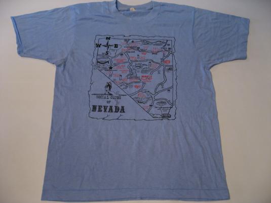 Vintage Social Clubs (Brothels!) of Nevada T-Shirt S