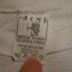Vintage Elton John T-Shirt World Tour 1985 M/S