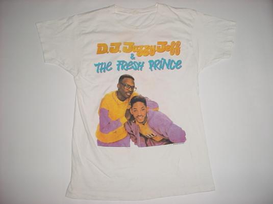 Vintage DJ Jazzy Jeff Fresh Prince T-Shirt Jive Tour '88 M/S